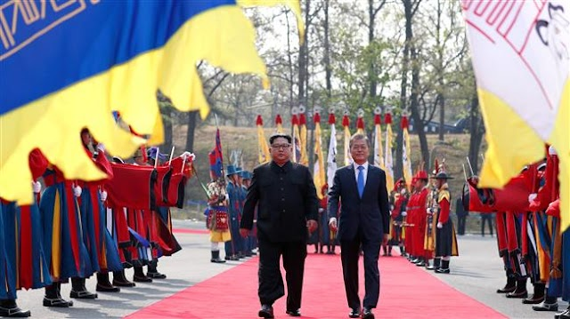 North Korean leader Kim Jong Un and the South's President Moon Jae-in sign joint declaration pledging denuclearization