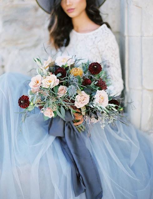 falda tul azul serenity