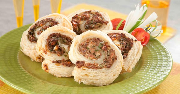 لفائف اللحم والجبن من منال العالم