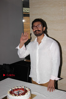 Bollywood Actor Aamir Khan Birthday Party Celetion Stills  0004.JPG
