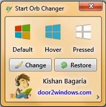 Cara mengganti logo start button windows 7