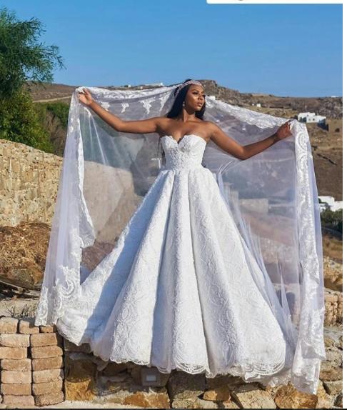 Stephanie coker and Olumide Aderinokun's fairy-tale wedding