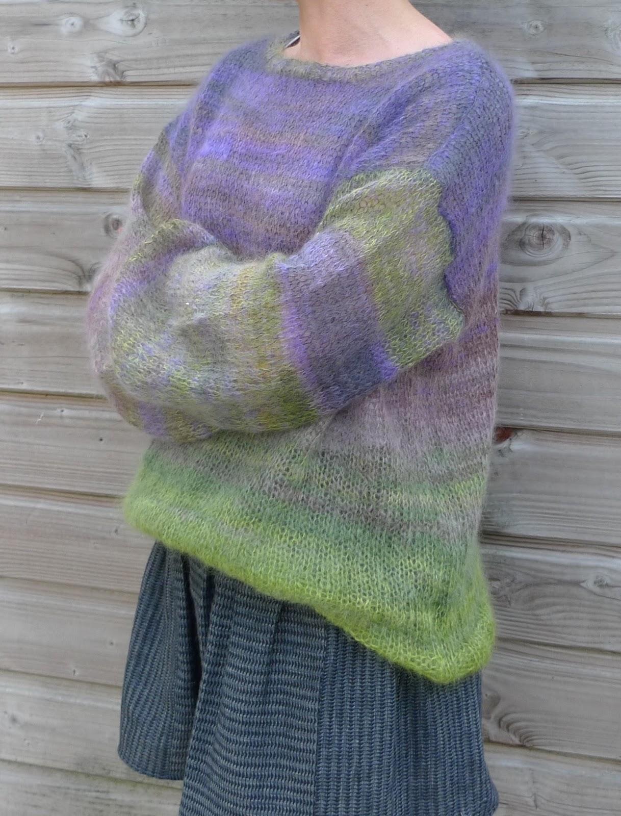 Tricoter 2 fils ensemble - Rentrer les fils tricot ...