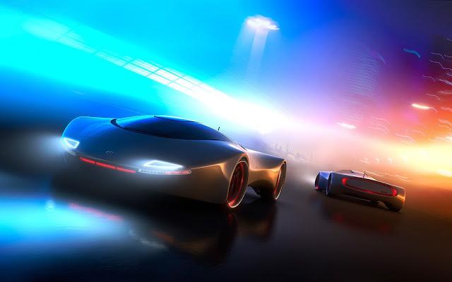 Papel de parede grátis Carro de Corrida do Futuro para PC, Notebook, iPhone, Android e Tablet.
