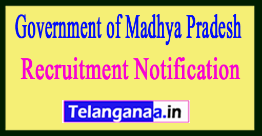 Government of Madhya Pradesh Recruitment Notification 2017