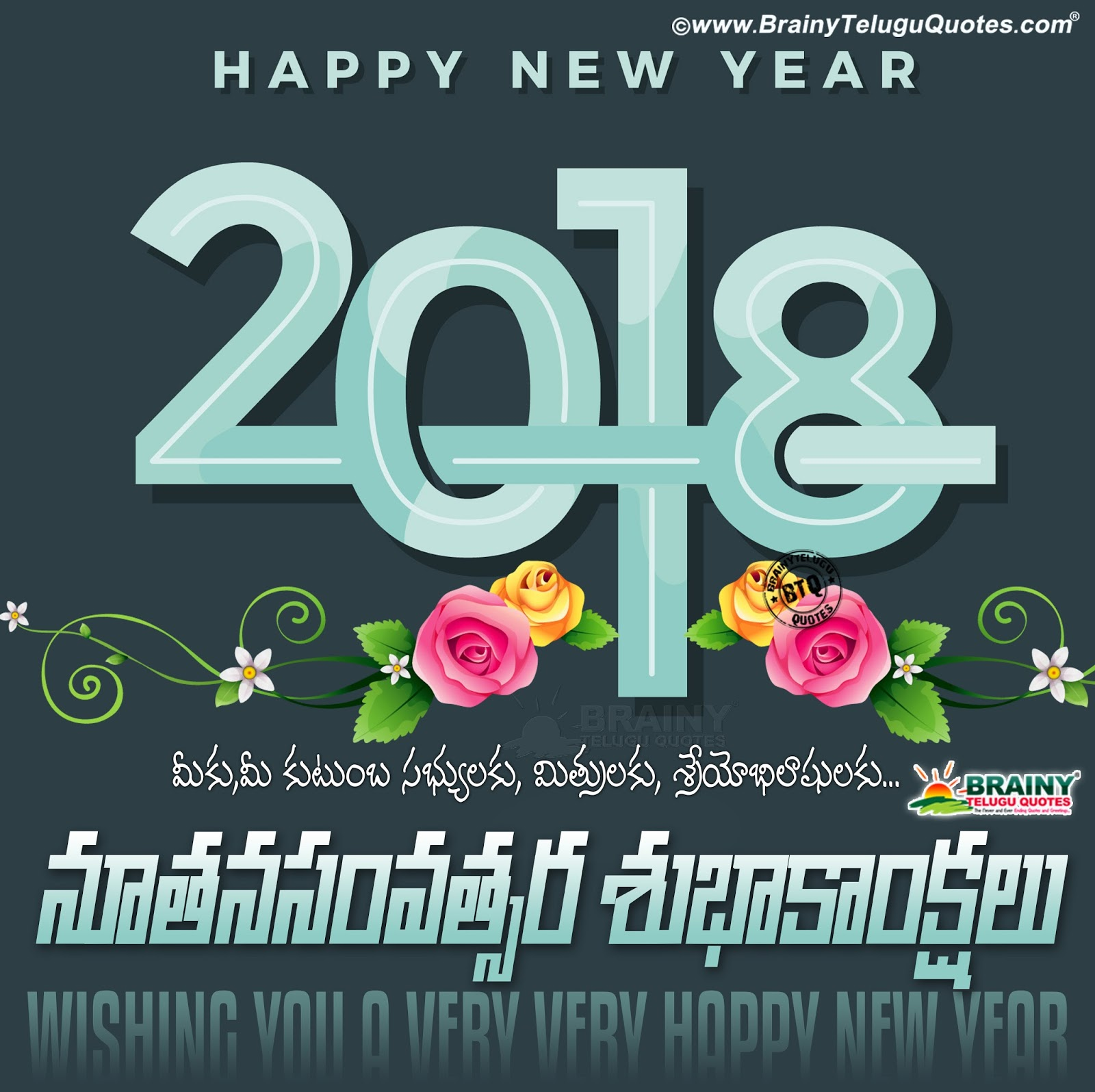 Vector Happy New Year 2018 Greeting Wallpapers With