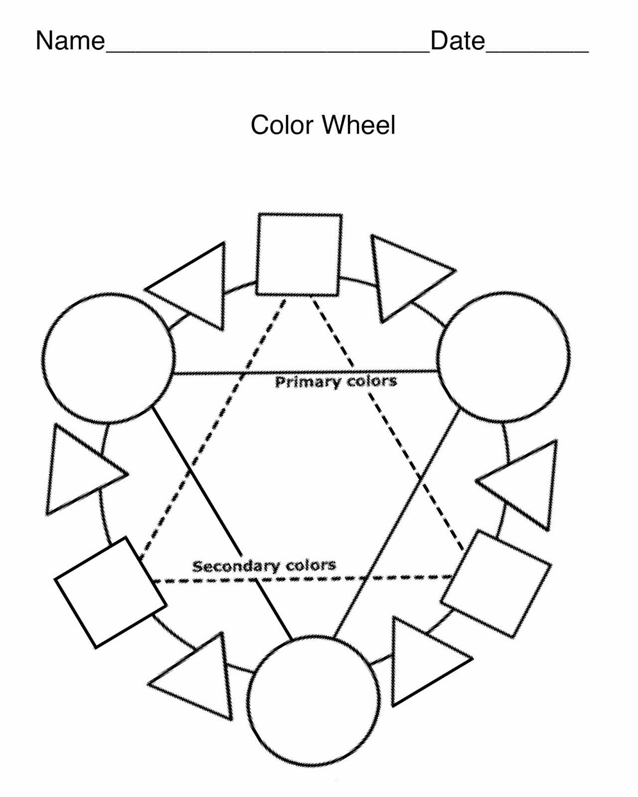 Color Wheel Blank Template Pictures To Pin