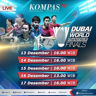 Live Streaming Dubai World Super Series Finals 2017