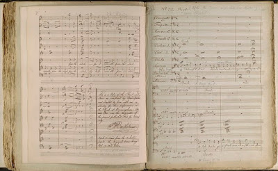 Manuscript of Mendelssohn's Oratorio 'Elijah' used at the first performance in Birminghamin 1846