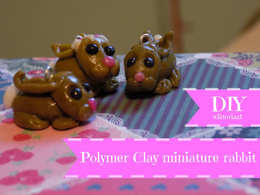 DIY PolymerClay miniature rabbits