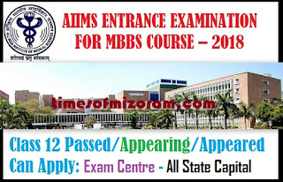 aiims mbbs entrance 2018 mizoram