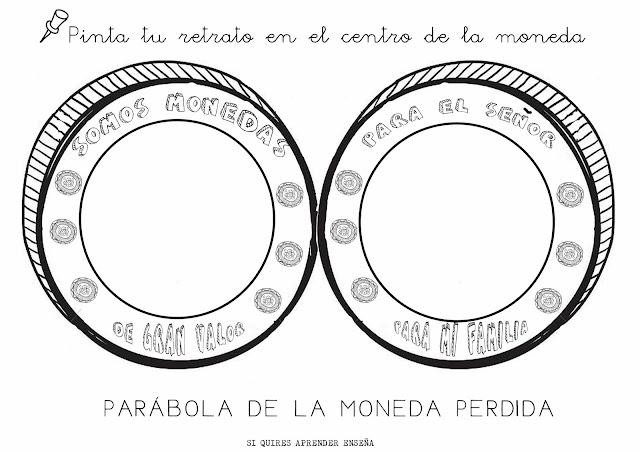 ME ABURRE LA RELIGIÓN: PARÁBOLA DE LA MONEDA PERDIDA COLOREAR