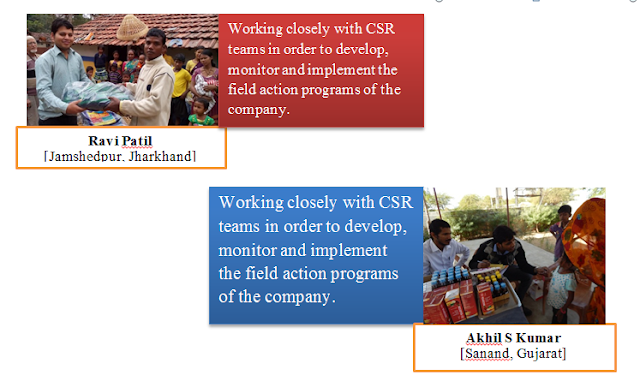 Corporate Social Responsibility (CSR) projects of Tata Motors Limited at Sanand (Gujarat) and Jamshedpur (Jharkhand)