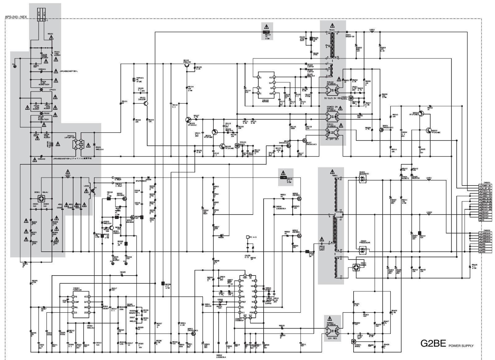 sony kdl 32l5000 power supply schematic