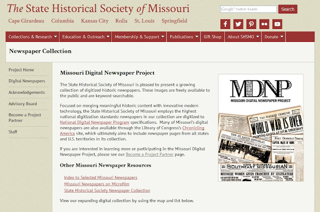 Missouri Historical Society Digital Newspaper Project