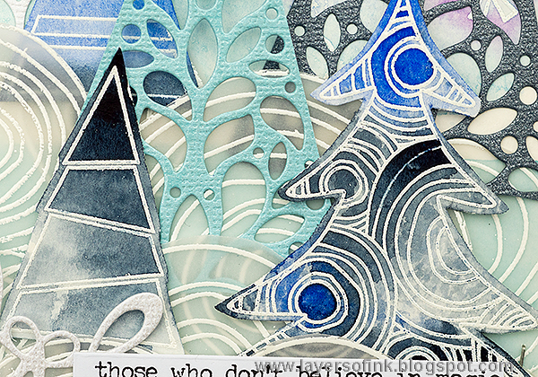Layers of ink - SSS Believe in the Season Blog Hop. Winter Journal Page tutorial by Anna-Karin.