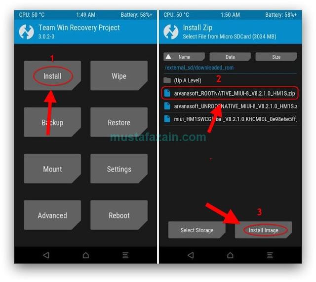 Cara Root Xiaomi Redmi 1S MIUI v8.2.1.0 Tanpa PC
