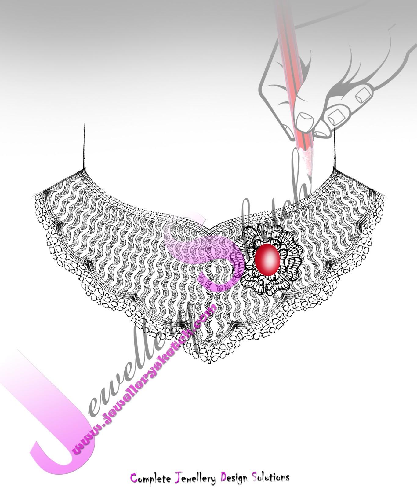 Diamond necklace sketch