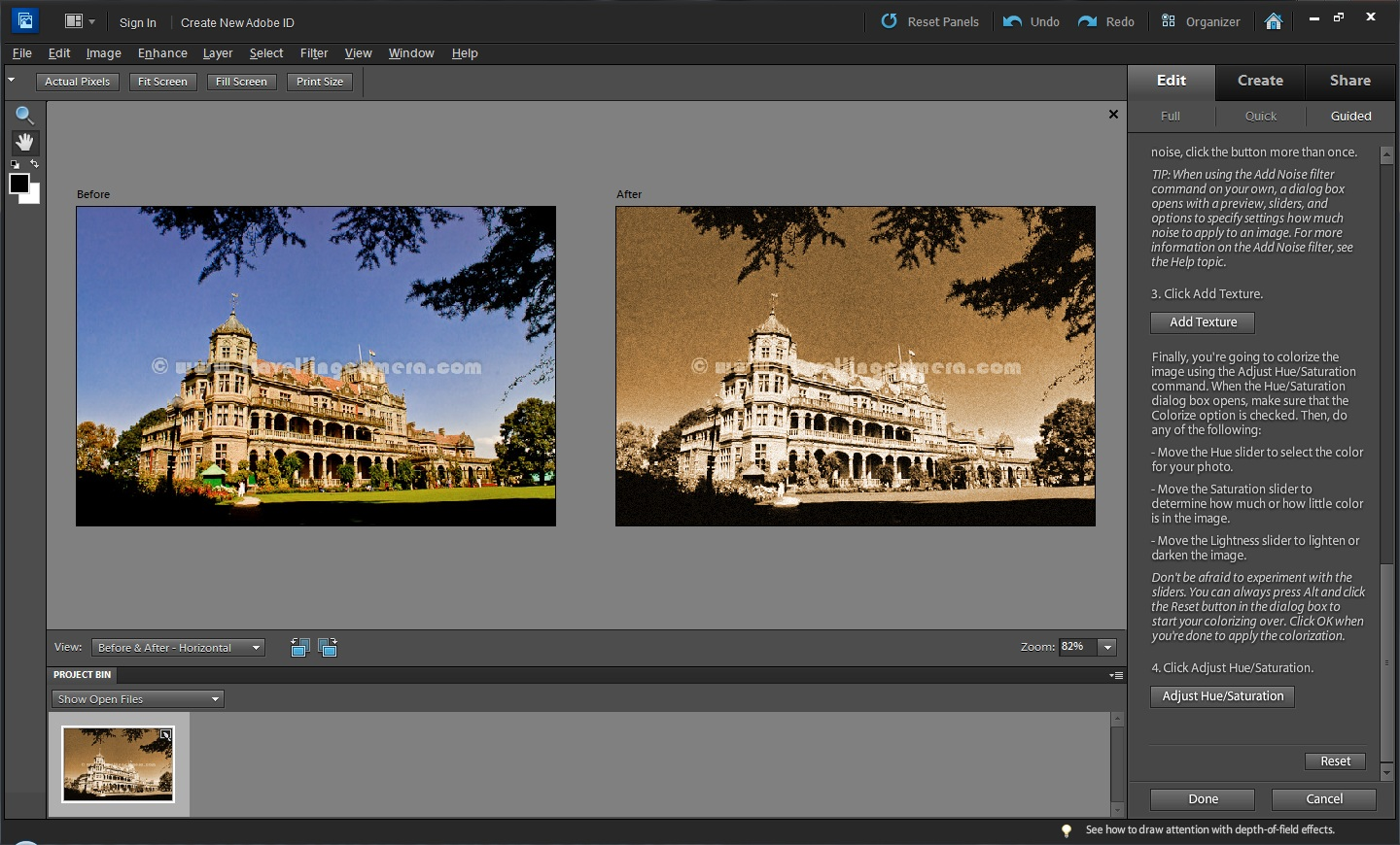 How to transform into Old Fashioned Photograph in Adobe ...