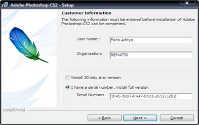 the serial number for adobe photoshop cs2 hd