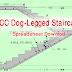 RCC Dog-Legged Staircase Spreadsheet | Free Download