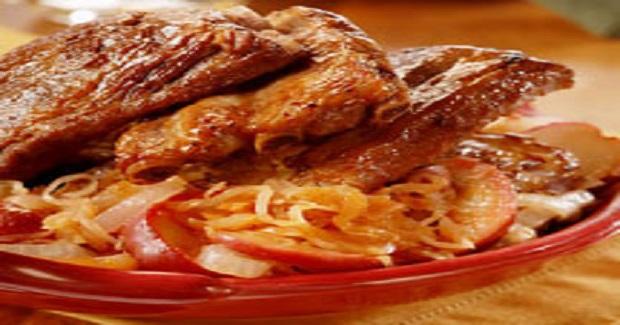 Oktoberfest Ribs With Apple Sauerkraut Recipe