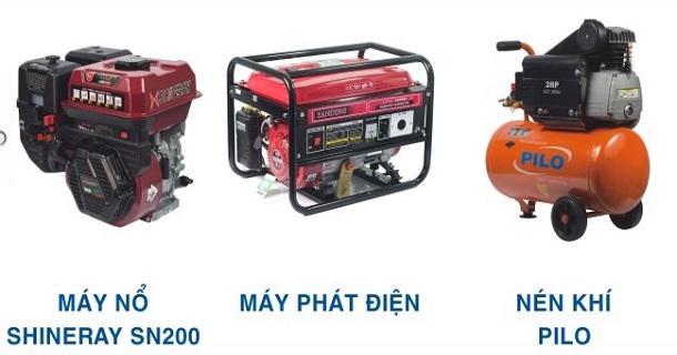 Máy nổ, động cơ nổ, Máy phát điện 2KW, 3KW, 5KW, 10KW, máy nén khí, máy bơm hơi