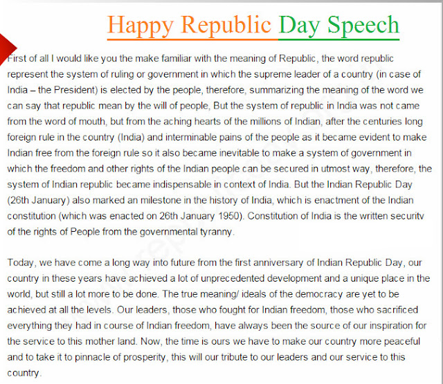 Republic Day Speech Images