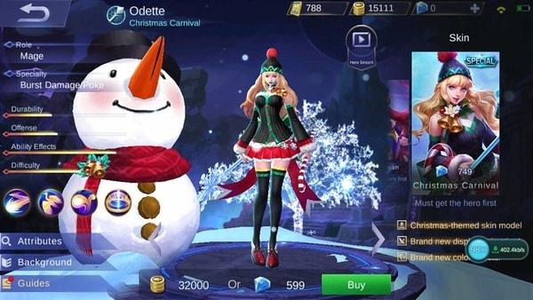odette special skin Christmas Carnival