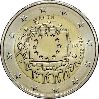2€ Drapeau Européen 2015 Malte