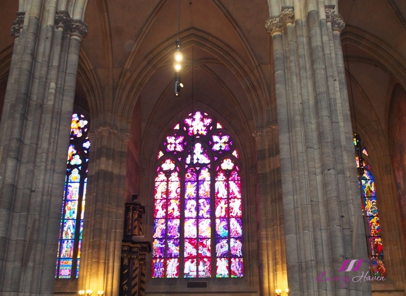 prague st vitus cathedral beautiful stained glass windows