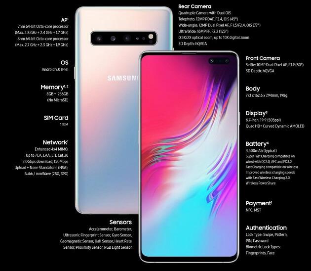 نسخة 5G من هاتف Galaxy S10 ستتوفر للبيع هذا الأسبوع