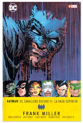 Batman, el caballero oscuro III- La raza superior de  Frank Miller, Azzarello, Kubert, Janson, Risso y Romita Jr Edita ECC Ediciones