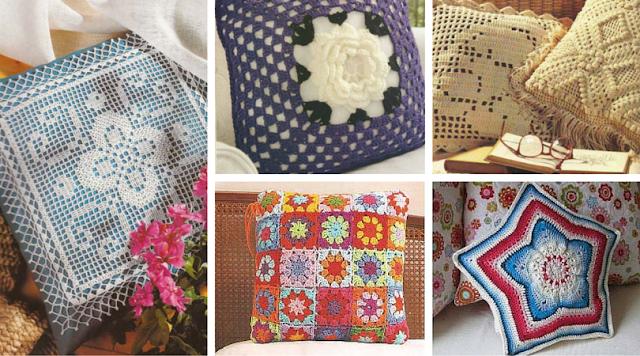 34 Cojines a Crochet - Patrones para Descargar