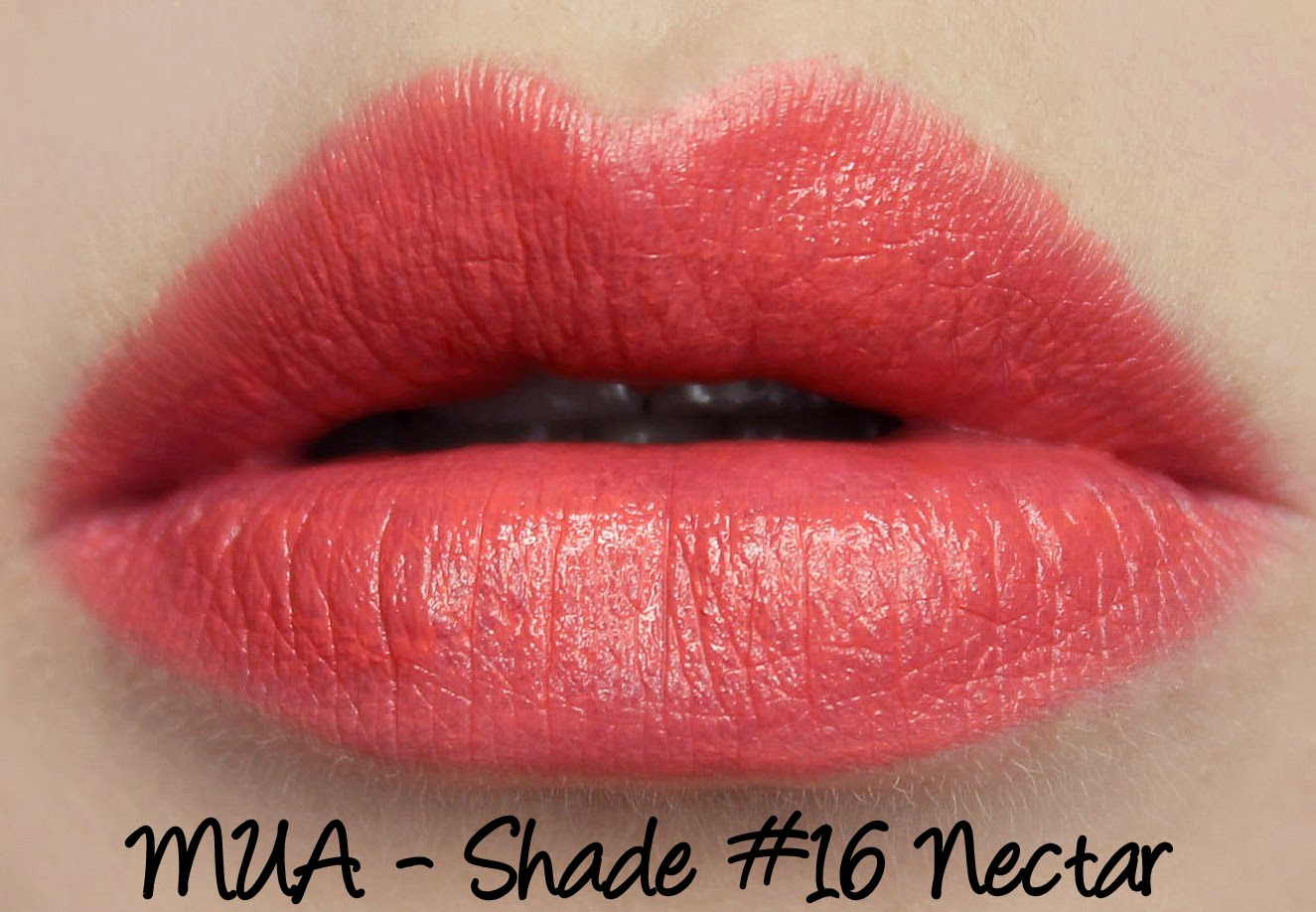 MUA Lipsticks - #16 Nectar Swatches & Review