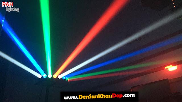 Hiệu ứng đèn beam 8 mắt