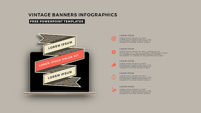 Vintage Banners Infographic Free PowerPoint Template Slide 1