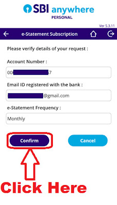 how to register for sbi e statement through sbi anywhere personal app