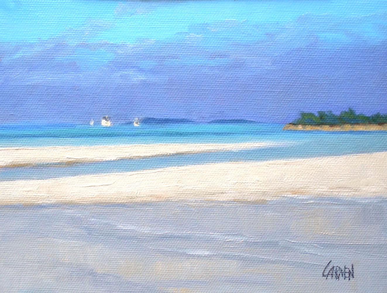 Tahiti Beach 6x8 Oil On Canvas Panel Seascape Elbow Cay Abacos Islands