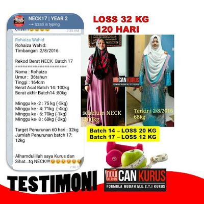 testimoni pengguna set kurus shaklee
