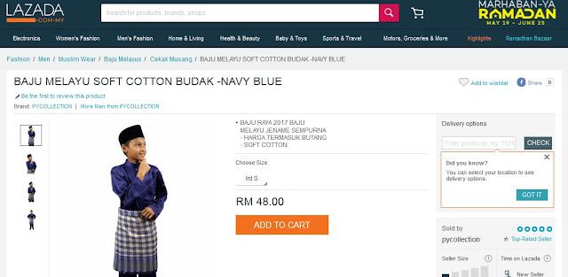baju-melayu-soft-cotton-budak-navy-blue