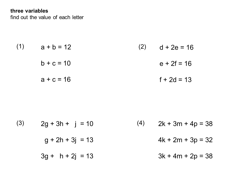 Median Don Steward Mathematics Teaching Three Variable