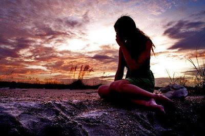 broken girl sad image