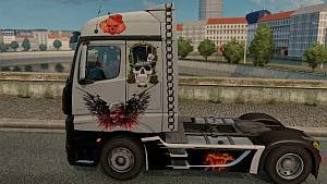 Mercedes Actros MP4 2014 Skull skin
