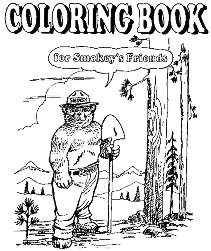 A Coloring Book for Smokey 39 s Friends