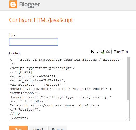 Cara Melihat Statistik Pengunjung Blog Dengan Statcounter 17