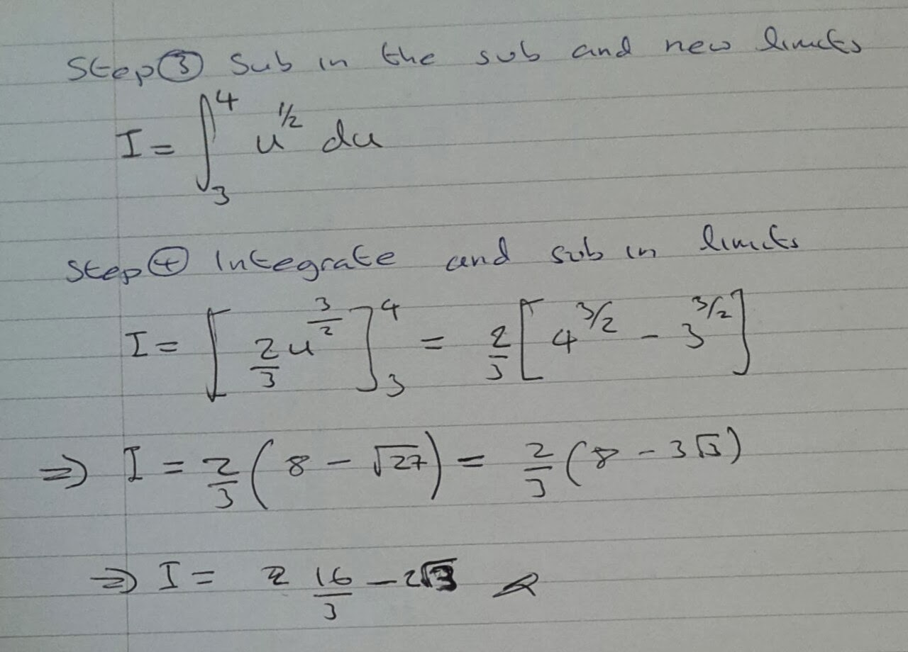 A Level Maths Notes: A2 Integration II: Definite