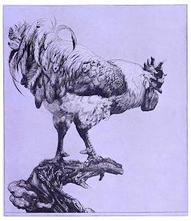 Dibujo de un elegante gallo