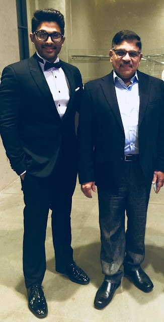 allu arjun with father allu aravind 2018 stills