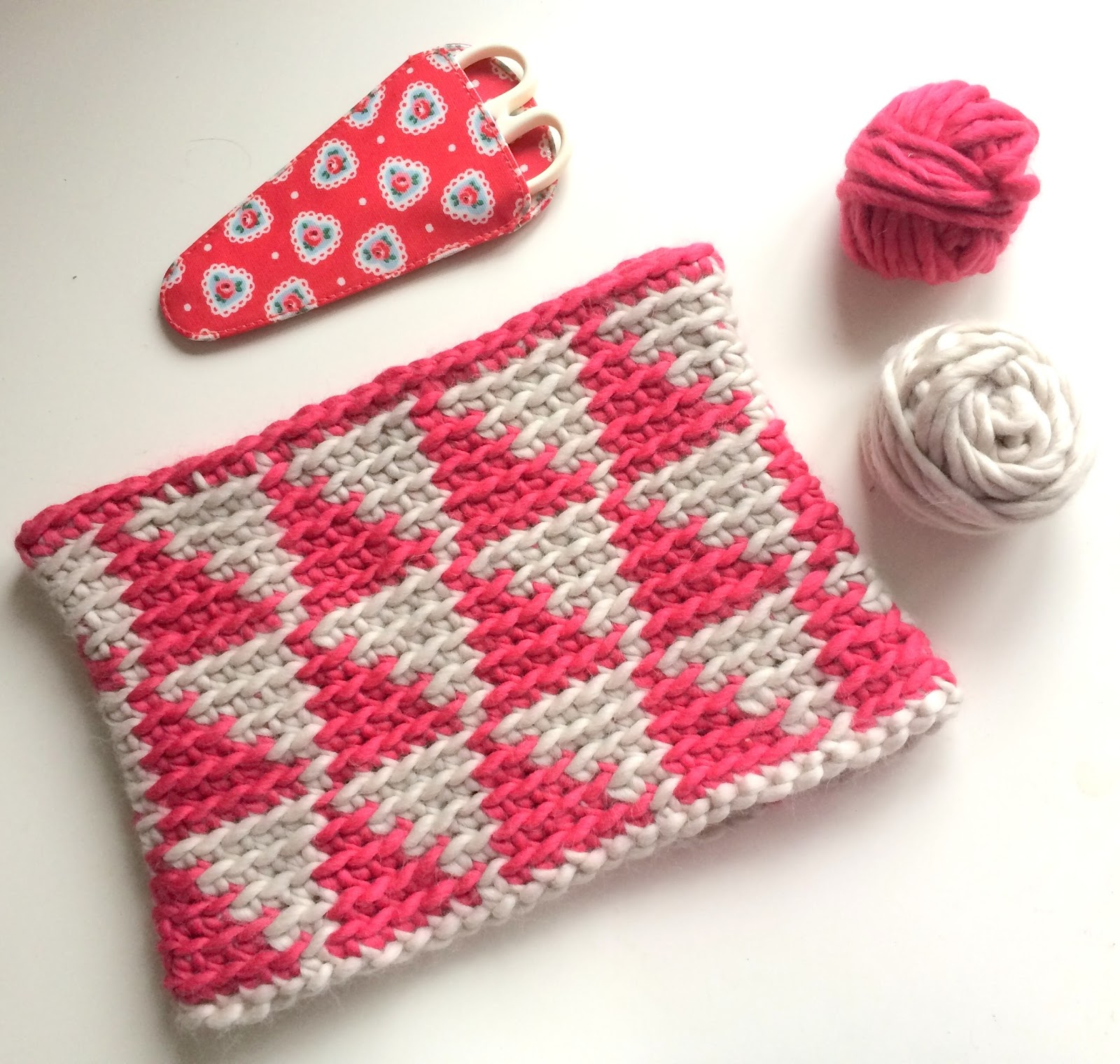Little Crochet Geometric Shapes Cowl